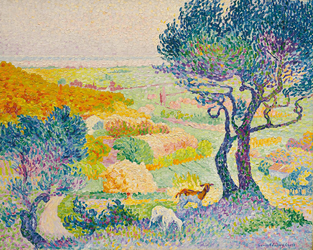 The Plain of Bormes (1908) by Henri-Edmond Cross
