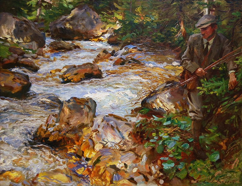 Trout Stream in the Tyrol (1914) by John Singer Sargent