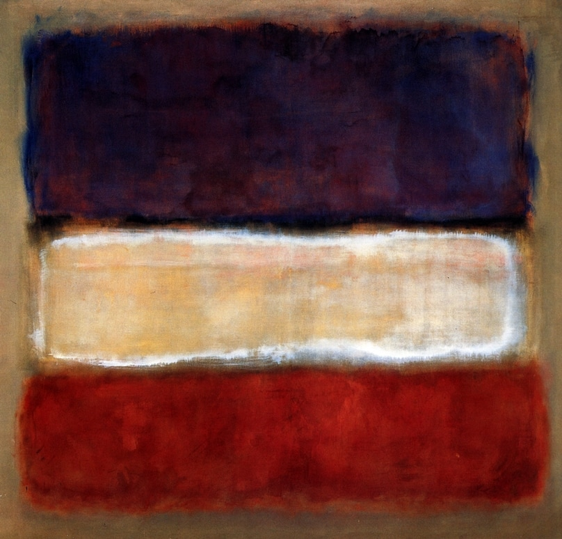 Untitled (Purple, White and Red) by Mark Rothko