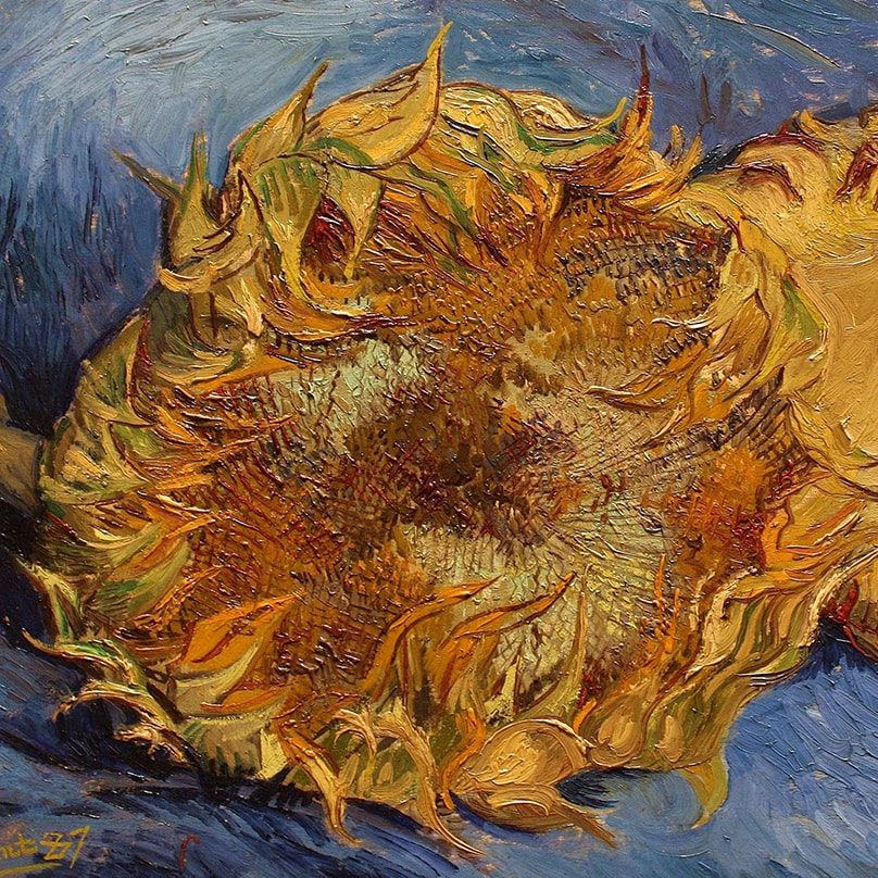 Still Life with Two Sunflowers (detail) 1887 by Vincent van Gogh