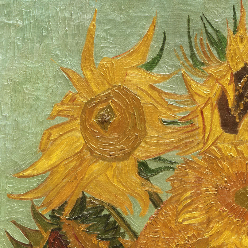 Vase with Twelve Flowers (detail) 1889 by Vincent van Gogh