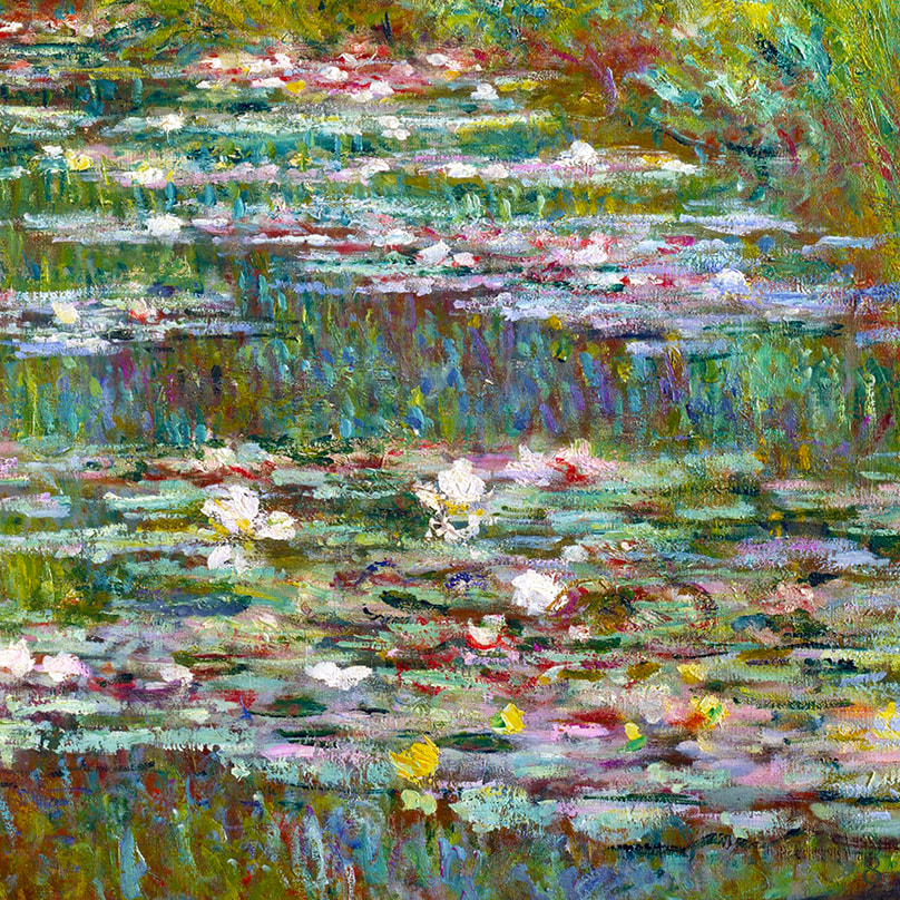Water Lily Pond with Japanese Bridge (detail) 1899 by Claude Monet